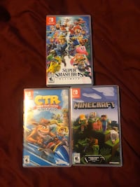 Switch games $70 for smash bro 35 for crash 20 for minecraft  Toronto, M6B 3S5