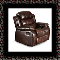 brown leather recliner sofa chair Temple Hills