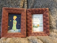 two brown wooden photo frames 30 km