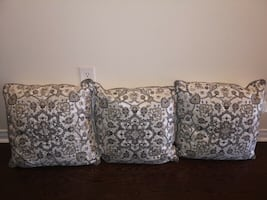 """Brand New. 3 Elegant Accent Pillows with Beads. 20""""X20""""."""