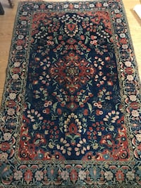 Handmade Persian Sarouk wool rug 5x7ft excellent condition delivery av Toronto, M2R 3N1