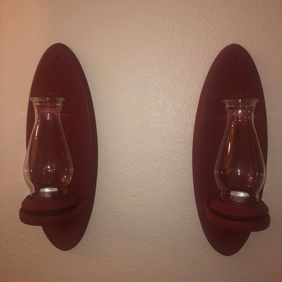70s Inspired Wooden Wall Sconses