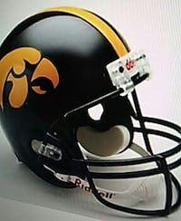 Iowa Hawkeyes mini football helmet Fort Myers