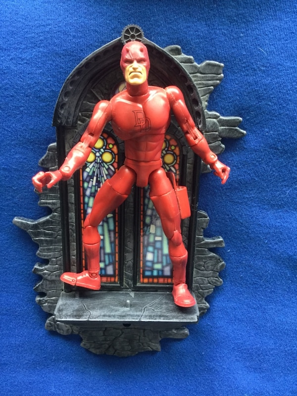 Dare Devil Character with Church Window / Marvel Comics figurine  cool Dare Devil  Posable movable joints