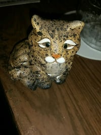 brown and black ceramic cat figurine Hamilton