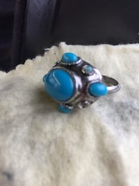 Turquoise and silver women's ring Barberton, 44203