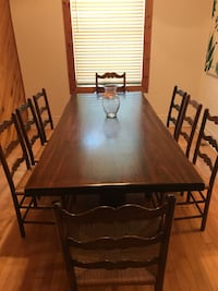 GENUINE ANTIQUE * Early Canadiana Table Set + 8 Chairs Montréal, H3K 1S9