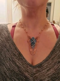 Stunning had crafted copper and stone one of a kind necklace Toronto, M6G 3X8