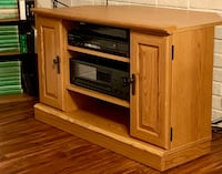 Oak TV and Music Cabinet Herndon, 20171