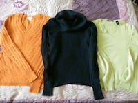 $50 for three cashmere size S Mississauga, L5M 6T1