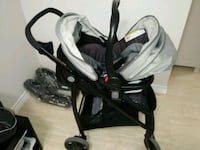 baby's black and white travel system Toronto, M9V 4A6