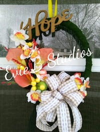 white and red floral wreath Borden, L0M 1C0