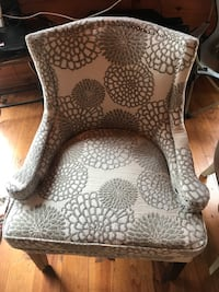 brown and white floral fabric sofa chair Candler, 28715