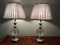 Pair of polished steel and glass table lamps - new condition! Toronto, M2J 2Z7