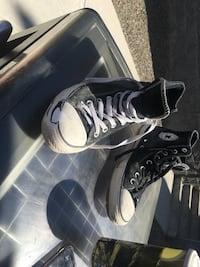 pair of black Converse All Star high-top sneakers Central Okanagan, V1Z