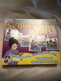 Kids ages 3 -6 years old  6- scene sequencing cards