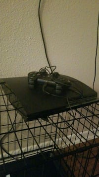 black Sony PS3 slim console with controller Grand Prairie, 75050