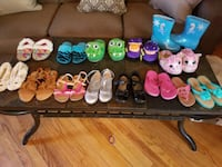 Girls size 11 and 12 slippers and shoes used Scranton, 18505