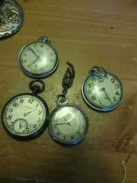 four round silver-colored pocket watches Miami, 33176