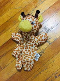white and brown animal plush toy Laval, H7N 1L5