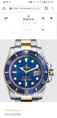 Rolex submariner man's watch Vancouver, V5S