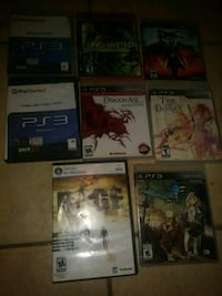 Ps3 games.. All 8 for $50 2323 mi