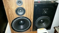 two black-and-gray speakers Newton, 50208