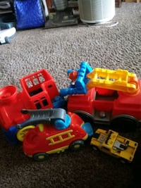 Selling some nice big toddler trucks and cars