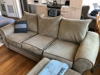 Couch and Ottoman - priced to sell
