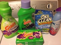 four Gain and Tide detergent bottles Erie, 16508