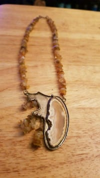 Handmade necklace with stone and sterling silver  Hyattsville, 20784