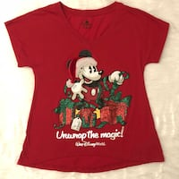 Disney christmas t-shirt mickey mouse red small