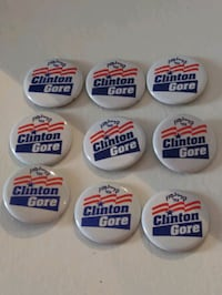 9 Vintage Clinton and Gore Campaign Buttons Woodmere, 11598