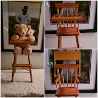 1950-60's Doll Wooden Highchair Very Collectible  Barrie, L4N 9T3