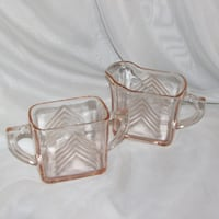 Hazel Atlas Pink Depression Glass Cream & Sugar Mississauga, L4X 1S2