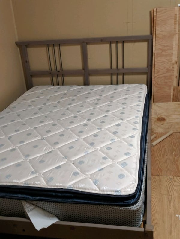 Full size frame and mattress.  2