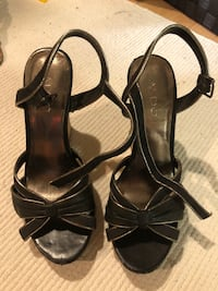Aldo black cork wedges sandals size 39 (fits women's size 7.5-8) Toronto, M5R