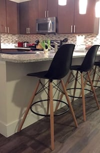 2 contemporary black Counter height stools Burke, 22015