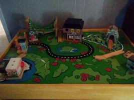 Train table (wooden)
