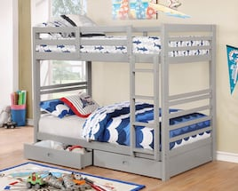 Twin Wood Bunk Beds with 2 mattress. New