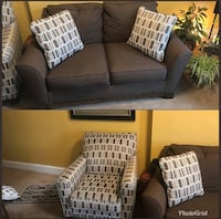 Brown loveseat with 2 accent chairs  Baltimore, 21223
