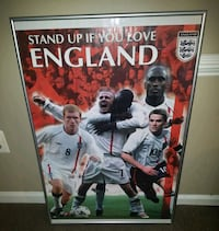 England Michael Brown Framed Posters Soccer  Damascus, 20872