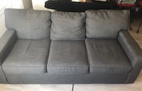gray fabric 3-seat sofa Alexandria, 22314