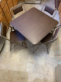 5 piece Padded card table set