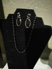 silver-colored link necklace and pair of earring sset St. Louis, 63111