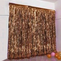 Copper champagne curtain birthday baby shower Rancho Cucamonga, 91730