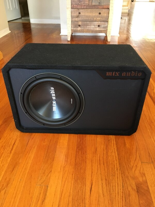 Used Mtx Tr75 12 Subwoofer 500w Rms W Ported Box For Sale In San
