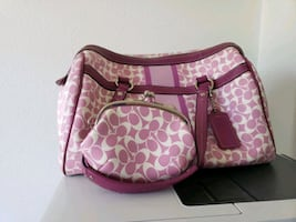Coach purse with matching coin purse