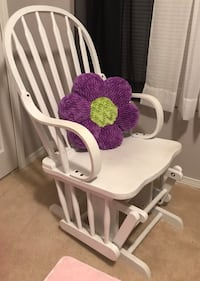 Beautiful White Painted Glider Chair Charlotte