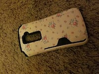 white and pink floral plastic smartphone case